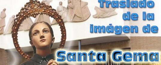 La imagen de Santa Gema viene a nuestra parroquia